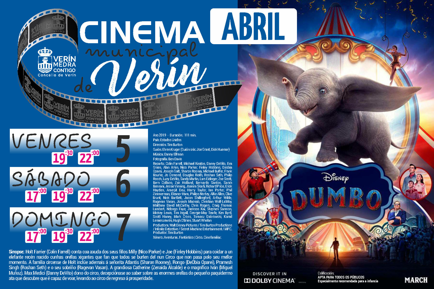Cartel do filme Dumbo.